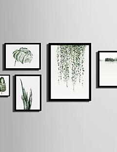 olcso Feszített festmények: Tájképek-Bekeretezett vászon Bekeretezett szett Landscape Virágos / Botanikus Wall Art, PVC Anyag a Frame lakberendezési frame Art Nappali szoba