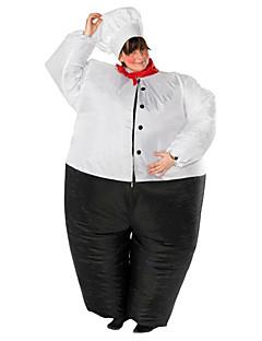 Cosplay Cosplay Kostümleri Cadılar Bayramı Aksesuarları Maskeli Balo Şişme Kostüm Su Geçirmez Film Kostümleri Siyah Strenç Dansçı/Tulum