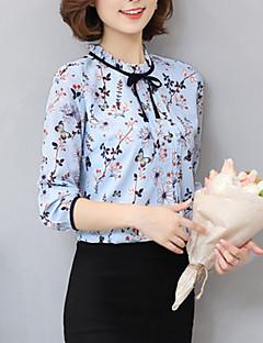 baratos Blusas Femininas-Mulheres Camisa Social Boho Estampado Seda