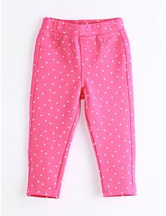 billige Bukser og leggings til piger-Pige Bukser Daglig Prikker, Bomuld Forår Efterår Rosa