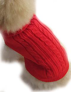 billiga Hundkläder-Hund Tröjor Hundkläder Enfärgad Brun Röd Blå Kostym För husdjur