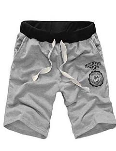 Herre Aktiv Mikroelastisk Shorts Bukser,Løstsittende Mellomhøyt liv Ensfarget
