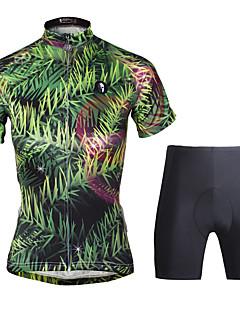 Sykkeljersey med shorts Dame Kortermet Sykkel KlessettSykling Fort Tørring Ultraviolet Motstandsdyktig Komprimering Lettvektsmateriale 3D