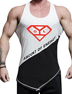 billige Løbetøj-Herre Løbe-T-shirt Hurtigtørrende, Elastisk, Afslappet / Hverdag Vest / Toppe for Afslappet / Træning & Fitness / Camping / Vandring /