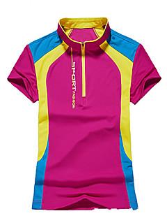 Damen T-Shirt für Wanderer Rasche Trocknung Atmungsaktiv Außen T-shirt Oberteile für Camping & Wandern Jagd Angeln Klettern Sommer L XL