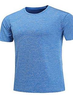 billige Løbetøj-Herre Løbe-T-shirt Kortærmet Hurtigtørrende, Åndbart Trøye / Toppe for Træning & Fitness / Løb Polyester Sort / Grå / Navyblå XL / XXL /