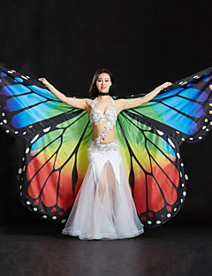 Belly Dance Isis Wings Women's Performance Spandex Sequin Crystals/Rhinestones 3 Pieces 1 Holder Wings