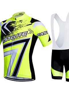 Fastcute Wielrenshirt met strakke shorts Dames Heren Kinderen Unisex Korte mouw FietsenFietsbroeken/Broekje Sweatshirt Shirt