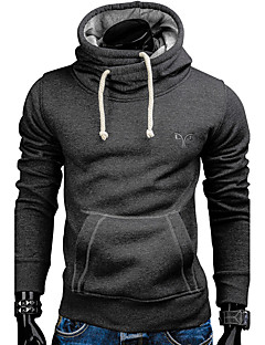 Men's Sport Daily Vintage Hoodie Solid Embroidered Hooded strenchy 100%Cotton Long Sleeve Winter Fall
