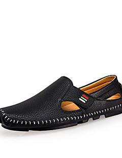 hesapli -Erkek Ayakkabı Tüylü Bahar Yaz Hafif Tabanlar Rahat Sandaletler Yürüyüş Günlük Dış mekan için Sihirli Bant Beyaz Siyah Mavi