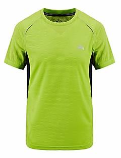 tanie Odzież turystyczna-Męskie Tričko na turistiku Oddychający T-shirt Topy na Golf Lato XL XXL XXXL XXXXL 5XL