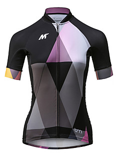 cheap Cycling Jerseys-Mysenlan Women's Short Sleeve Cycling Jersey - Black Bike Jersey, Quick Dry, Breathable Polyester