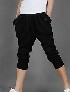 Χαμηλού Κόστους The Sports Look-Ανδρικά Καθημερινό Ενεργό Βαμβάκι Βράκα Αθλητικές Φόρμες Χαλαρό Παντελόνι Μονόχρωμο