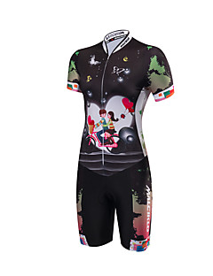 cheap Cycling Clothing-Malciklo Tri Suit Women's Short Sleeves Bike Triathlon/Tri Suit Anatomic Design Moisture Permeability Front Zipper High Breathability