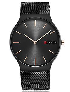 CURREN Herrn Modeuhr Armbanduhr Einzigartige kreative Uhr Armbanduhren für den Alltag Quartz Großes Ziffernblatt Edelstahl Band Cool