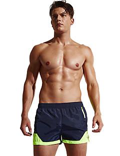 billige Løbetøj-Herre Løbeshorts Åndbart, Bekvem Shorts / Underdele Træning & Fitness / Strand / Løb Terylene Sort / Marine / Mørk Navy L / XL / XXL
