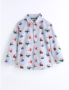 Jungen T-Shirt Gitter Druck Baumwolle Frühling/Herbst Lange Ärmel