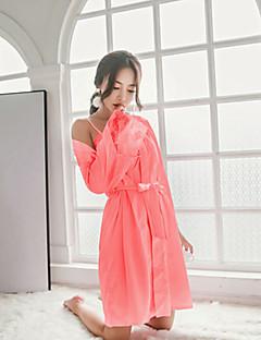 billige Moteundertøy-Dame V-hals Dress Kjoler Pyjamas - Ensfarget