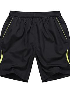 billige Løbetøj-Herre Løbeshorts Sport Shorts / Underdele Træning & Fitness, Løb Afslappet / Hverdag Gul, Grøn Simpel