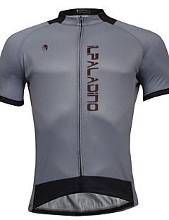 cheap Cycling Clothing-ILPALADINO Men's Short Sleeves Cycling Jersey - Gray Bike Jersey, Quick Dry, Spring Summer, Polyester Coolmax