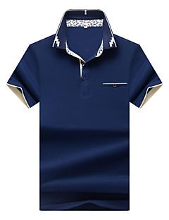 お買い得  メンズポロシャツ-男性用 ワーク Polo シャツカラー ソリッド コットン