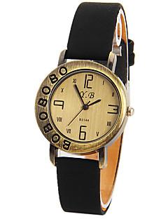 halpa -Naisten Muotikello Ainutlaatuinen Creative Watch Kiina Quartz Iso näyttö Nahka Bändi Vintage Musta  Valkoinen Punainen  Ruskea