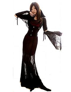 Trollmann/heks Cosplay Cosplay Kostumer Maskerade Party-kostyme Kvinnelig Halloween Karneval Festival/høytid Halloween-kostymer Rød+Svart