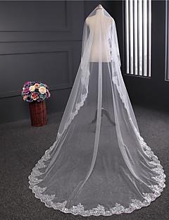 Voal de Nuntă Un nivel Voaluri tip Capelă Margine cu Aplicație de Dantelă Tulle
