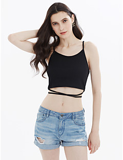 cheap Women's Tops-Women's Active Cotton Tank Top - Solid Colored Hole Strap