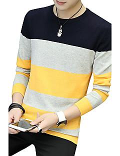 baratos Suéteres & Cardigans Masculinos-Homens Tamanhos Grandes Esportes Trabalho Moda de Rua Manga Longa Pulôver - Sólido