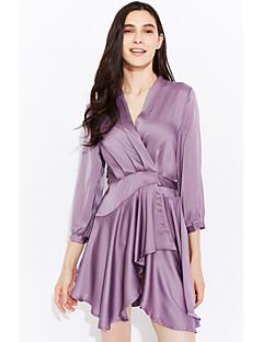 preiswerte Kleider-Damen Freizeit Street Schick Hülle Kleid Solide Knielang