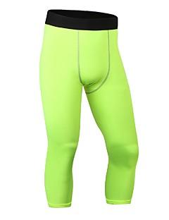 billiga Träning-, jogging- och yogakläder-Herr Tights för jogging / Gymleggings - Röd, Blå, Frukt grön sporter Shorts Sportkläder Lättvikt, Fitness, Löpning & Yoga, Snabb tork