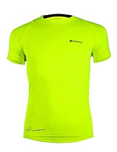 Nuckily Camisa para Ciclismo Homens Adulto Manga Curta Moto Camiseta Blusas Secagem Rápida Poliéster Elastano Terylene Sólido Clássico