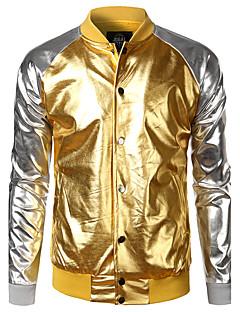 billige Herremote og klær-Skjortekrage Jakke - Fargeblokk Herre
