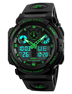 SKMEI Herre Sportsklokke Militærklokke Moteklokke Armbåndsur Digital Watch Japansk Quartz LED Kalender Kronograf Vannavvisende Dobbel