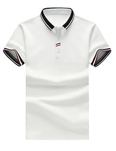 お買い得  メンズポロシャツ-男性用 Polo シャツカラー ソリッド コットン