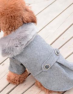 billiga Hundkläder-Hund Kappor Hundkläder Enfärgad Svart / Grå Ner / Cotton Kostym För husdjur Herr / Dam Ledigt / vardag