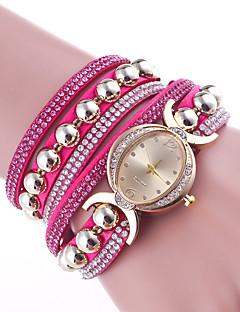 billige Armbåndsure-Dame Quartz Armbåndsur Kinesisk Læder Bånd Elegant Mode Sort Hvid Blåt Rød Brun Pink Lilla Marine Rose