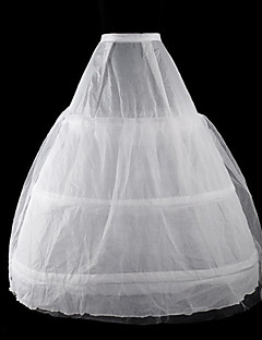 cheap Lolita Fashion Costumes-Classic Lolita Lolita Women's Petticoat Cosplay White Floor Length Long Length