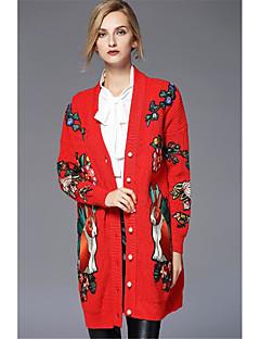 baratos Suéteres de Mulher-Mulheres Algodão Carregam - Floral, Estampado Algodão / Nadador