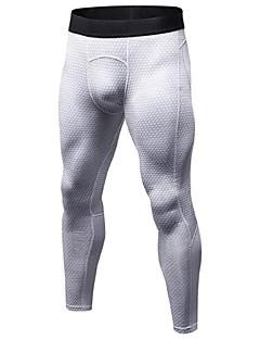 billige Løbetøj-Herre Løbetights / Træningsleggings - Rød, Blå, Sort+Grå Sport Tights Fitness, Træningscenter, Træning Sportstøj Letvægt, Åndbart, Fitness, Løb & Yoga Elastisk / Anatomisk design / Hurtigtørrende