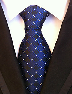 Bărbați Model Houndstooth Toate Sezoanele Fulare Cravată