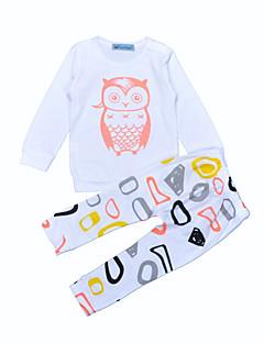 Baby Jongens Katoen Voor Buiten Casual/Dagelijks Meetkundig Kledingset,Dierenprint Lente/Herfst Winter