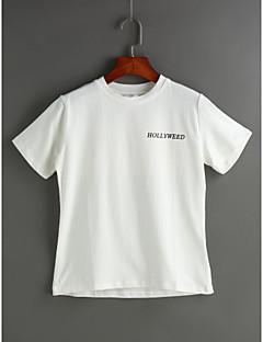 Χαμηλού Κόστους T-shirt-Γυναικεία T-shirt Μονόχρωμο Στάμπα Βαμβάκι