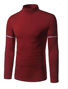 tanie Męskie swetry i swetry rozpinane-Męskie Moda miejska Golf Pulower Jendolity kolor Długi rękaw