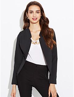 여성 프린트 라운드 넥 긴 소매 블레이져,심플 작동 보통 Others 봄 가을