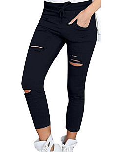 Women's High Rise Micro-elastic Skinny Pants,Sexy Solid Summer