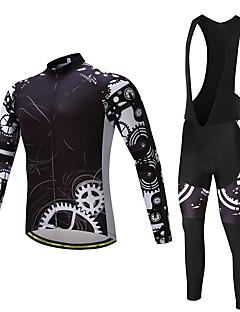 חולצת ג'רסי וטייץ ביב לרכיבה בגדי ריקוד גברים שרוול ארוך אופניים גרביונים ביב מכנסיים ג'רזי טייץ רכיבה על אופניים צמרות מדים בסטים ייבוש