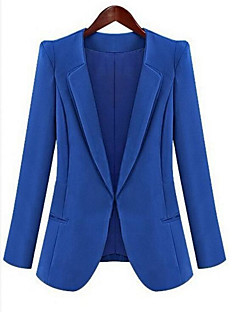 Women's Casual/Daily Work Casual Spring Fall Blazer