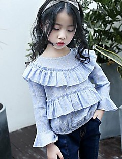 Girls' Others Shirt,Cotton Linen Spring Fall Long Sleeve